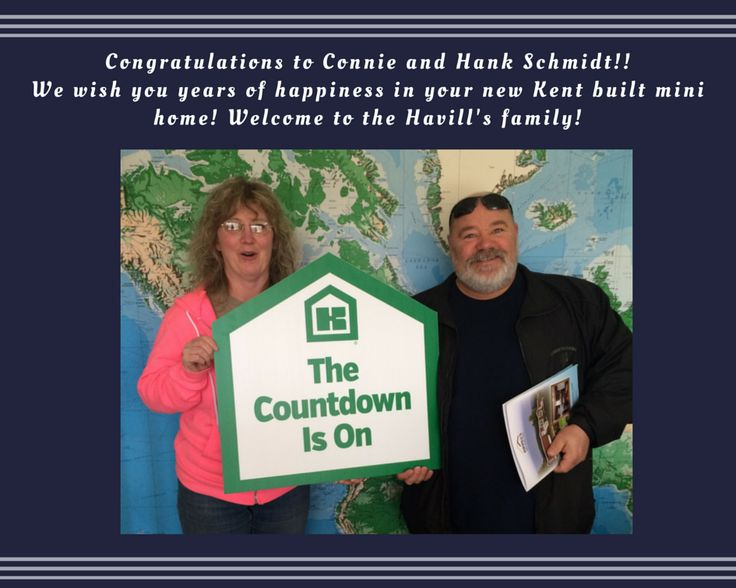 CONGRATULATIONS to these new homeowners- @ConnieSchmidt and @HankSchmidt!!! WE wish you many years of happiness in your beautiful new mini home!! So glad to welcome you to the Havill's Mini Home Sales family!!