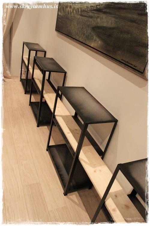 DIY great shelves . Economic and usefull . Sólo estanterías de alumino, y estantes de madera