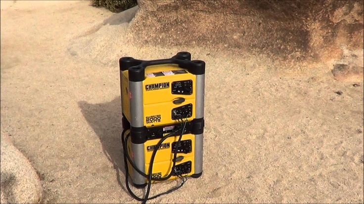 Champion 2000w inverter generator - http://LoveYourRV.com brings you - Champion 2000w inverter generators in action while boondocking