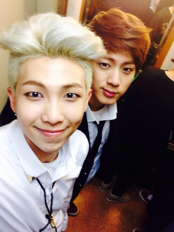 BTS Tweet - Rap Mon & Jin (Selca) 140221