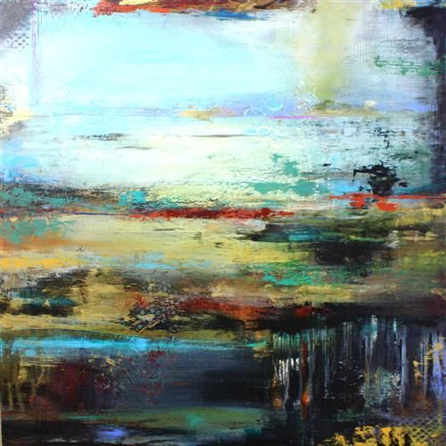 Urban Twilight by DL Watson   acrylic painting   Ugallery Online Art Gallery