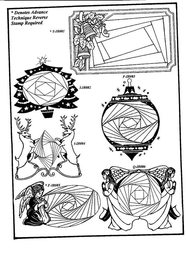 NEW Iris Folding Rubber Stamps Pg 13- Discount