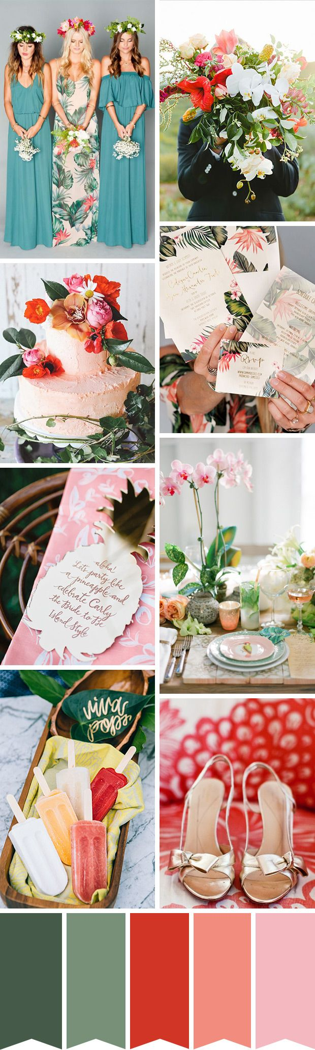 A fun yet chic tropical inspired wedding | www.onefabday.com