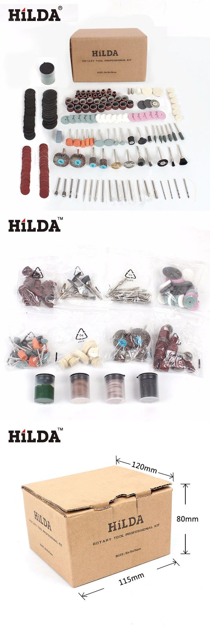 [Visit to Buy] 248PCS Rotary Tool Accessories Kit for Easy Cutting Grinding Sanding Carving and Polishing Tool Combination For Hilda Dremel #Advertisement