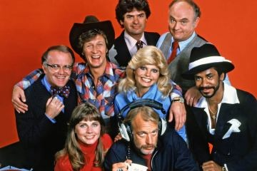 WKRP in Cincinnati - (1978-1982). Starring: Gary Sandy, Gordon Jump, Loni Anderson, Richard Sanders, Frank Bonner, Jan Smithers, Tim Reid, Howard Hesseman, Edie McClurg and Carol Bruce. Partial Guest List: Ned Wertimer, Barrie Youngfellow, Craig T. Nelson, Vincent Schiavelli, Hoyt Axton, Nedra Volz, Howard Morton, George Gaynes, Peter Marshall, Daphne Maxwell Reid, Dr. Joyce Brothers, Noble Willingham, Mary Frann, Max Wright, Pat O'Brien and John Witherspoon.