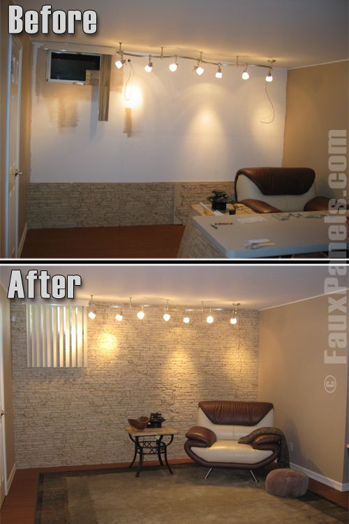 Use Fake Stone Wall Panels For Accent Wall