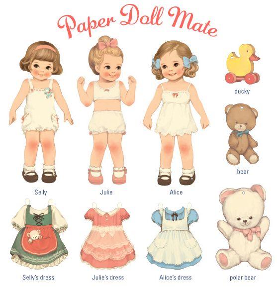 bonecas de paper dolls - Buscar con Google