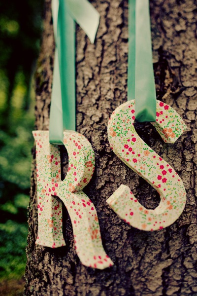 who can find a tutorial on how to wrap paper mache letters in fabric?