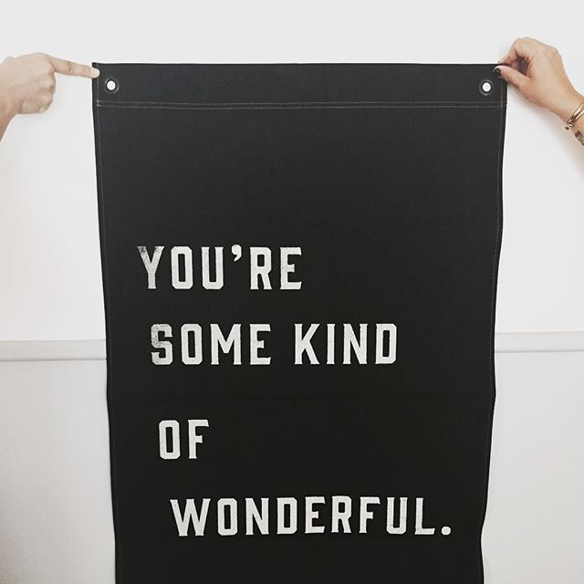 Pony Rider Wall Banner - Dark Denim - You're some kind of wonderful.