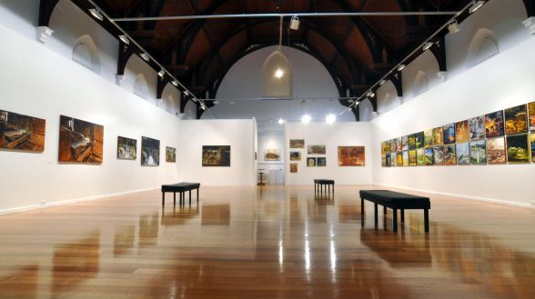 The Devonport Regional Gallery, housed within a renovated Baptist Church, features a permanent collection of Tasmanian art along with an annual program of exhibitions, events and workshops.