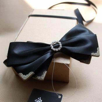 volledige strass strik de bruidegom getrouwd male vlinderdas corsage bal das