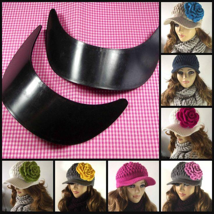 HAT BRIM Plastic baseball Brim Cap for Newsboy Hat Set of