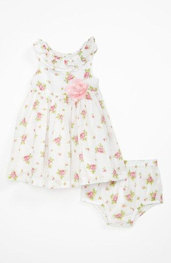 Little Me Woven Dress & Bloomers (Baby) available at #Nordstrom