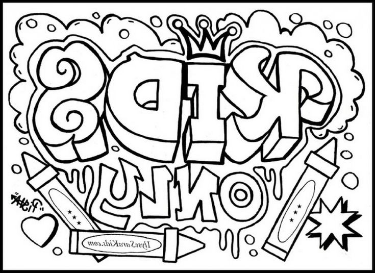 Cool Design Coloring Pages Graffiti Creator Page Stencils Free