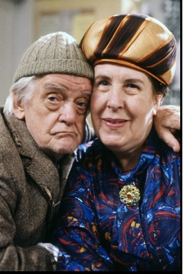 "Last of the Summer Wine (BBC). ""Compo and Nora"" ( Bill Owen and Kathy Staff)"