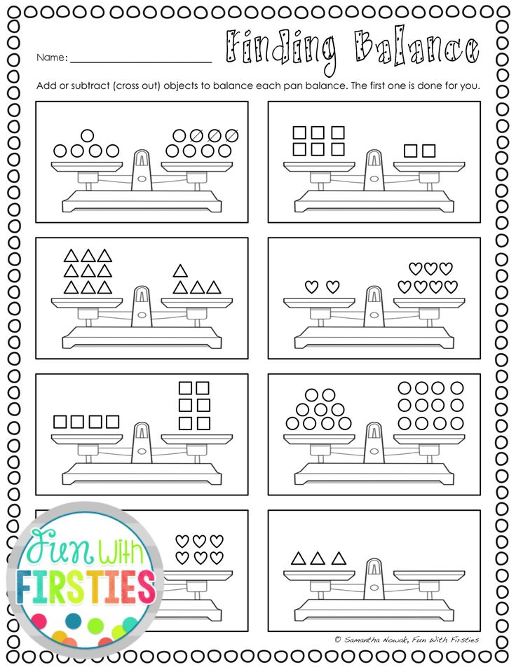 Print & GO! worksheets to practice balancing equations