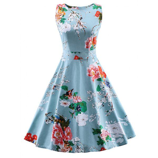 Wholesale Vintage Tie Back Floral Dress Only $10.75 Drop Shipping | TrendsGal.com