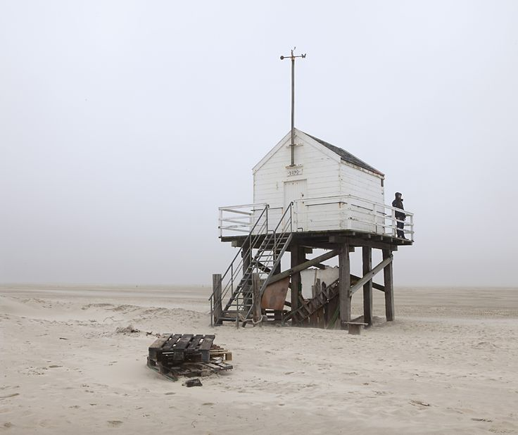This cabin on Vlieland Island, Netherlands, was built for men lost at sea, and is stocked with enough water and crackers to survive until found.