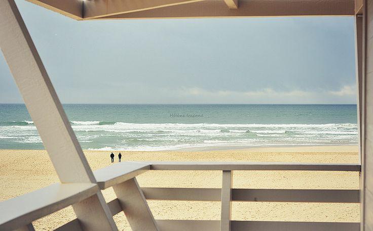 Moliets-plage, Landes - © Helene Iracane  #waterscape #france #seaside #beach #ocean