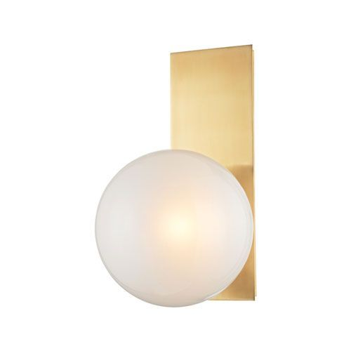 Hinsdale Aged Brass One Light Wall Sconce Hudson Valley Round Wall Sconces  Wall Lighting ($250.00
