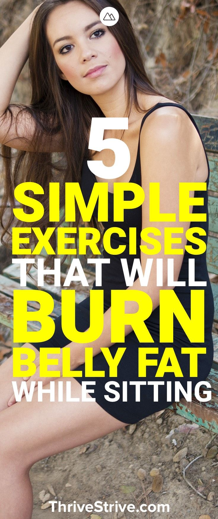 We all sit down a lot. Probably too much but that doesn't mean we can't lose weight and burn fat while sitting around. Here are 5 exercises that you can do to help burn belly fat, lose the muffin top, and get great abs.