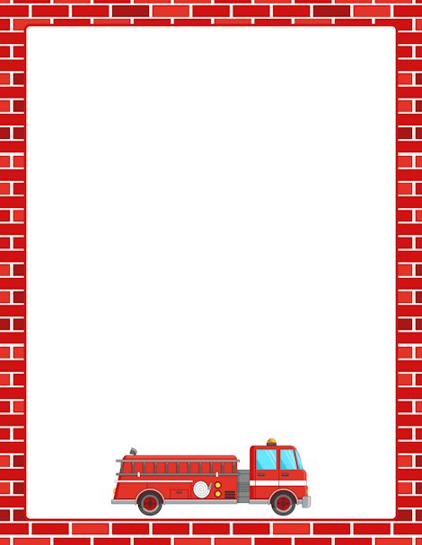 Printable fire truck border. Free GIF, JPG, PDF, and PNG downloads at ...