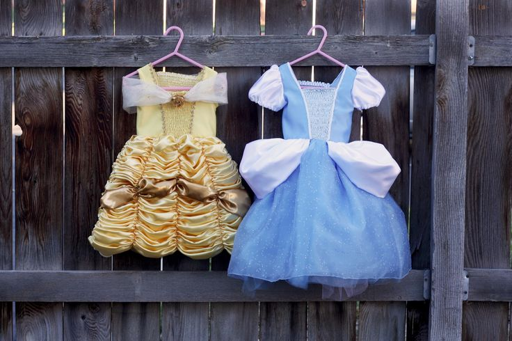 Cinderella and Belle Princess Dresses - FREE Costume Pattern and Tutorial