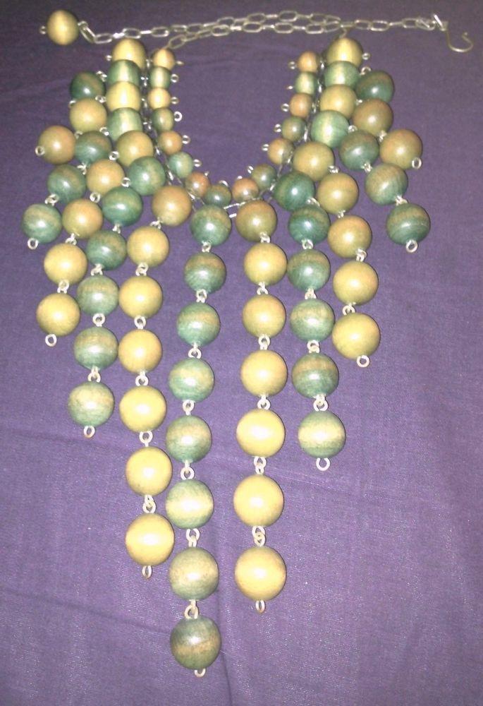 Aarikka vintage marked AWESOME necklace collar Finland Scandinavian art wood en
