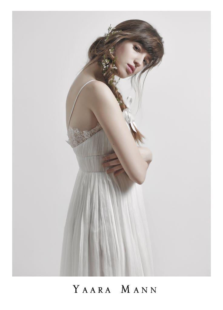 """Athena"" 100% silk wedding dress from Yaara Mann's collection 2014 www.yaaramann.com"