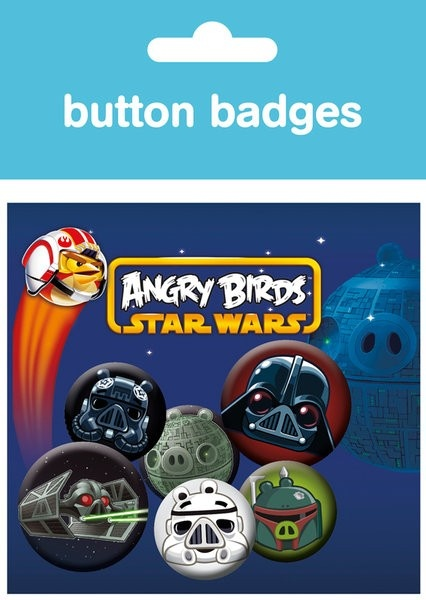 GBEYE Rozet Seti - Angry Birds Star Wars Logo - 38 mm Rozet Seti - BunlardanIstiyorum.com
