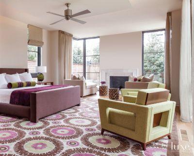 A Modern Courtyard Style Dallas Homeu0027s Master Bedroom.
