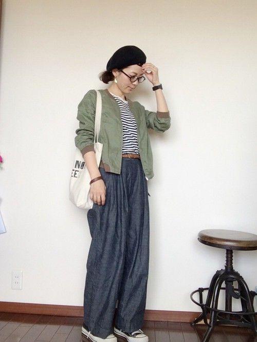 chambre de charmeのブルゾン「リネンショートブルゾン」を使ったmayumi のコーディネートです。WEARはモデル・俳優・ショップスタッフなどの着こなしをチェックできるファッションコーディネートサイトです。