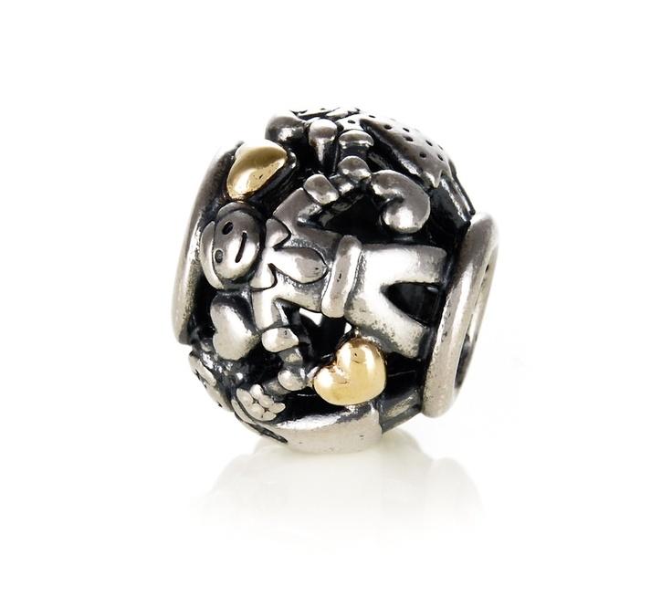 Pandora Silver And 14ct Gold Family Charm 791040 At John