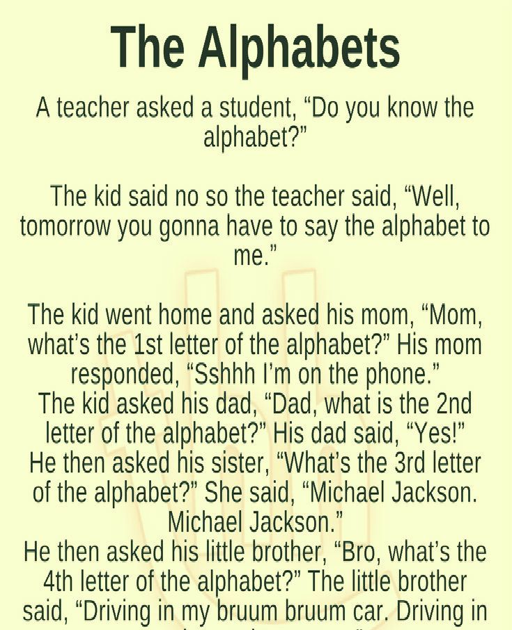 The Alphabets Fun Quotes Funny Teacher Jokes Did You Know Funny