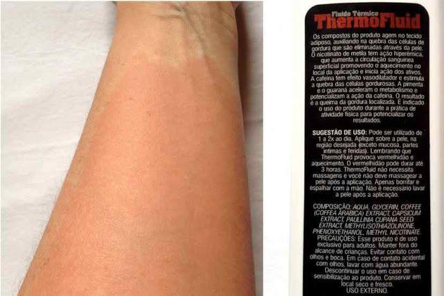 ThermoFluid da Power Supplements Vermelidão da Pele e Embalagem