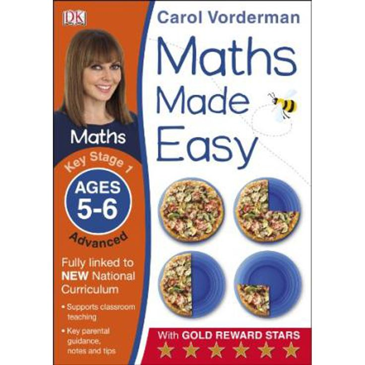 Maths Made Easy Ages 5-6 Key Stage 1 Advanced by Carol Vorderman | Key Stage 1 Books at The Works