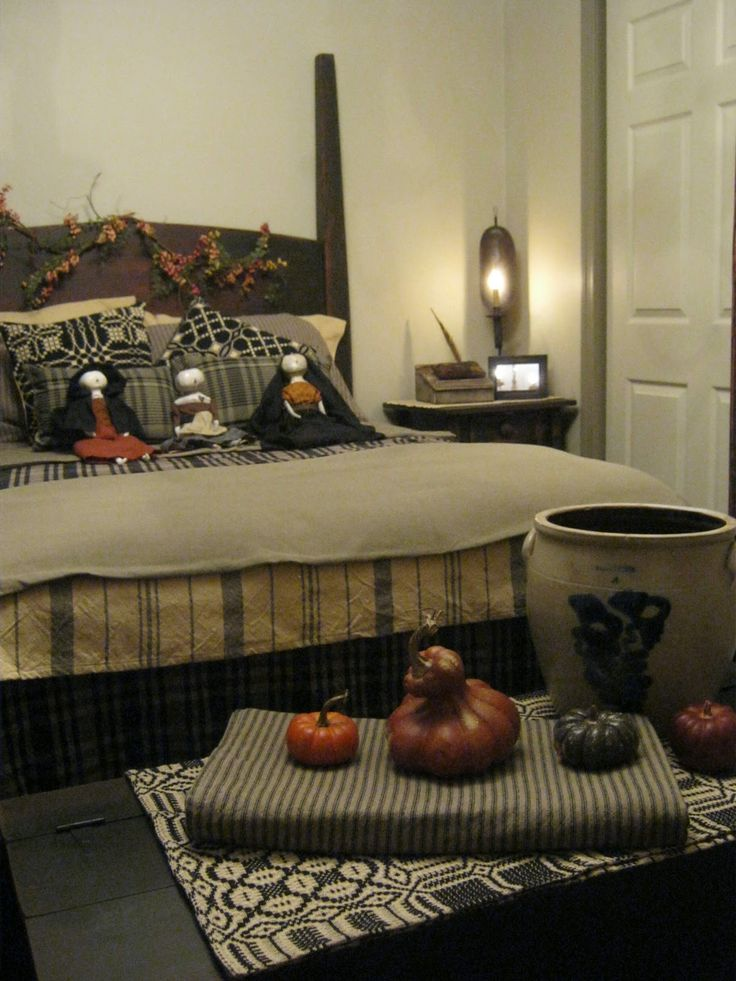 338 best images about primitive colonial bedrooms on pinterest - Rustic country bedroom decorating ideas ...