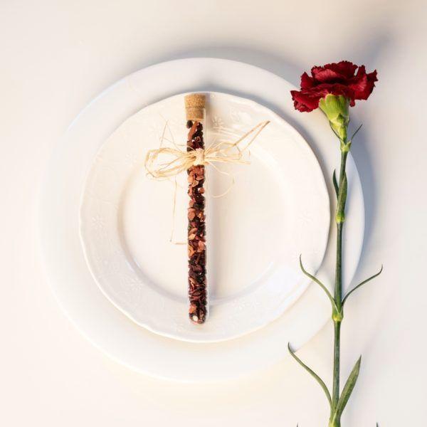 podziekowanie dla gości weselnych herbata w probówce tea wedding favours