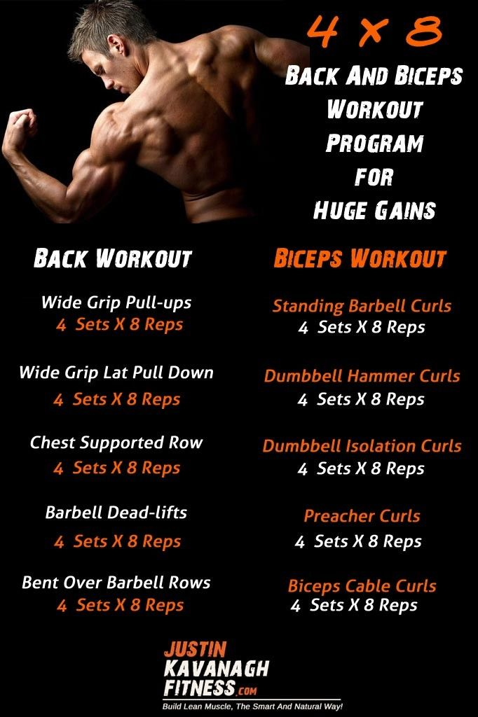If your looking for a back and biceps workout program you have come to the right place.  In this post I will share with you the exact workout program that I use for training back and biceps. http://www.justinkavanaghfitness.com/back-biceps-workout-program-huge-gains/