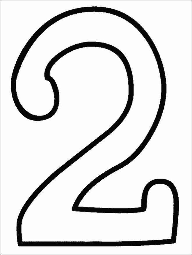 NUMERO 2 DA COLORARE | Dibujos para colorear números | 2 | Dibujos para recortar y colorear