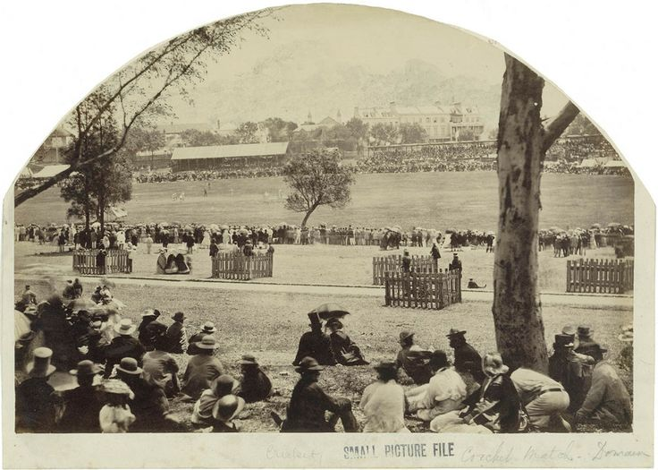 Crowd at a cricket match in the Domain, Sydney, 1862. Mitchell Library, State Library of New South Wales: http://www.acmssearch.sl.nsw.gov.au/search/itemDetailPaged.cgi?itemID=423757