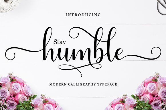 Humble by Amarlettering on @creativemarket