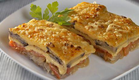 Deliciosa receta de Verduras y legumbres, Pastel de berenjenas con queso. Cómo hacer esta receta económica, rápida y fácil. Pastel de berenjenas con queso