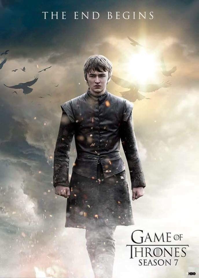 Game of thrones season 7 poster. Bran Stark, the end begins