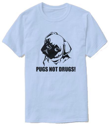 Pugs Not Drugs T Shirt Zazzle phantomgraffix
