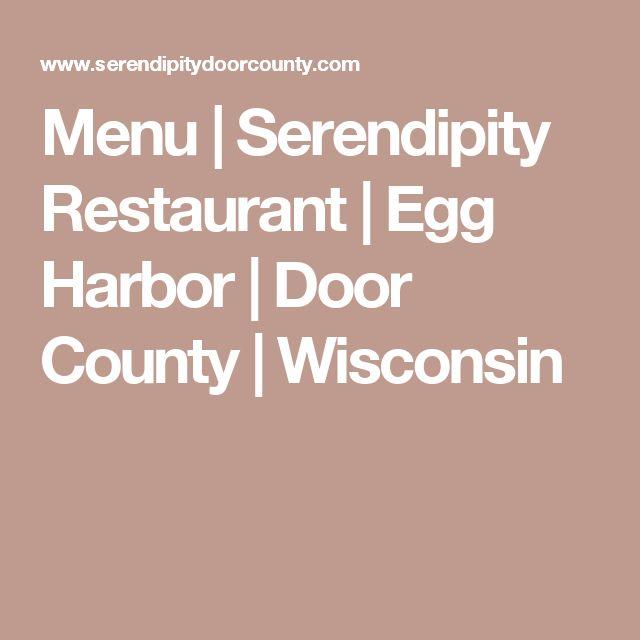 Menu | Serendipity Restaurant | Egg Harbor | Door County | Wisconsin