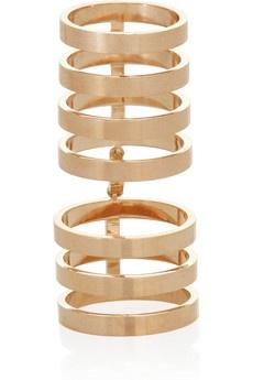 full-finger ring #gold #links #rings #jewelry