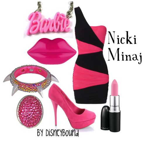 leave the bracelet and the lipstick and the barbie necklace out and this was SOOOOO me back in the day. LOVE IT!!!