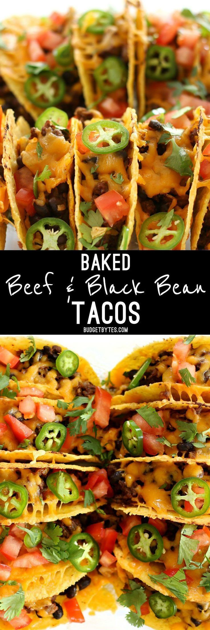 Baked Beef and Black Bean Tacos are a fast and easy way to take Taco Tuesday to the next level and is the perfect last minute weeknight meal.