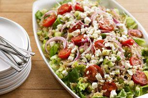 Salade de quinoa à la méditerranéenne - Un rayon de soleil et on a envie de manger une bonne salade !